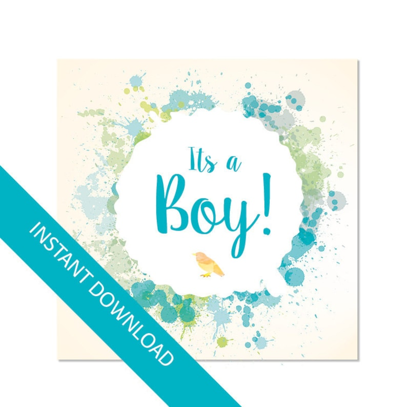 picture relating to Baby Shower Card Printable called Its a boy card, Boy or girl shower card, printable card, pdf and jpg quick obtain, Printable card, Electronic card for boy or girl Boy