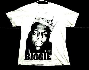 16c3b3d425c8 Vintage Notorious BIG Biggie Brooklyn Mens L White Graphic Tee Shirt