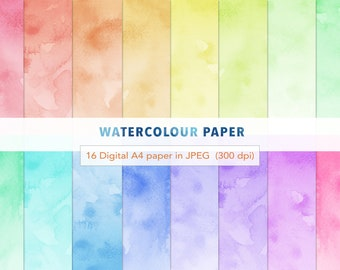 photograph regarding Printable Watercolor Paper identified as 11 Watercolor Historical past texture 11 A4 paper packs Etsy