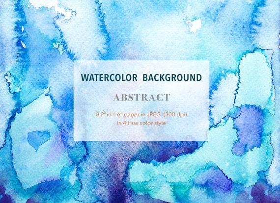Abstract Theme Watercolour Background Etsy