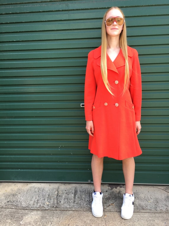 1960s Ladies Red Overcoat