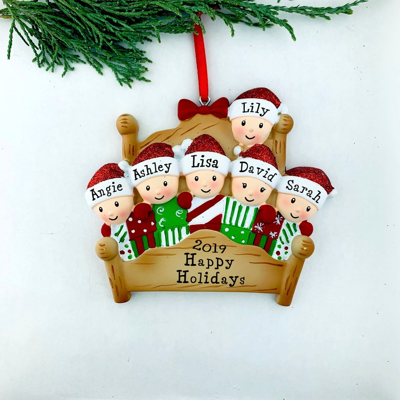 Bannister Stocking Family 2 3 4 5 6 7 8 Personalized Christmas Ornament
