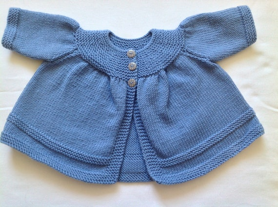 80ae7552fe4d Luxury hand knit blue baby jacket   coat   cardigan. Baby