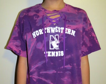 College Lace up Tee (Northwestern University Tennis)
