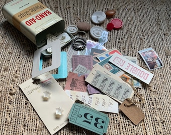 Vintage Band-Aid Tin Filled with Possibilities