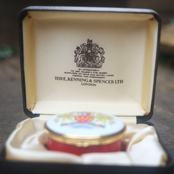 Limited Edition Enamel Pill Pot - The Post Office - Toye, Kenning & Spencer  Ltd - By Appointment to Her Majesty the Queen