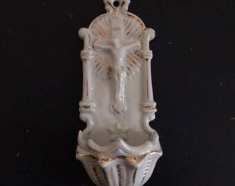 Vintage clam, porcelain of Paris, 1900
