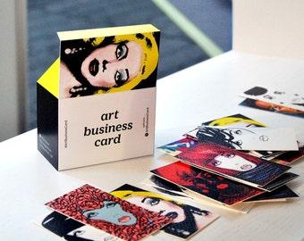 Art Business Card (set of 100 pieces) Make Up, Painter, Art cards, hair stylist