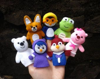 Pororo and friends finger puppet