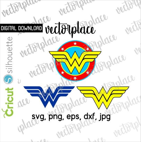 Wonder Woman Svg Wonder Woman Clipart Wonder Woman Logo Svg Etsy