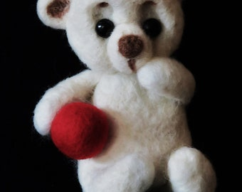 Felted wool bear.