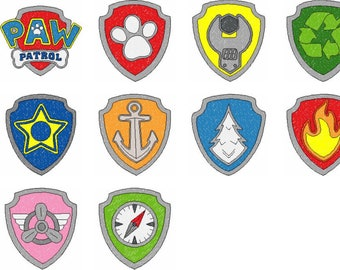 Paw Patrol Badges Etsy Large collections of hd transparent paw patrol png images for free download. paw patrol badges etsy