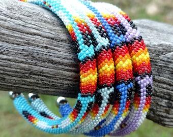 Cherokee Beaded Bangle Bracelets