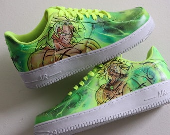 0ab6a207853c9 Nike Air Force one Broly DBZ dragonball super z vab custom ONLY 3  available!!!