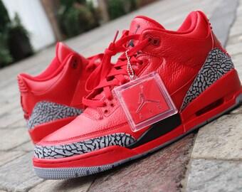 Code RED Air Jordan 3 custom (only 5 available) 9edbd77f5