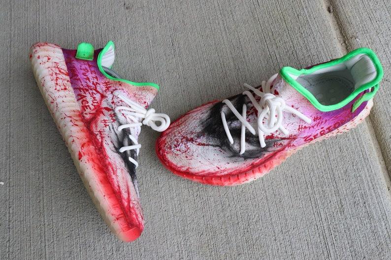 Dark Knight Joker Inspired Adidas Yeezy 350 boost VAB Kanye  f8ecc9343