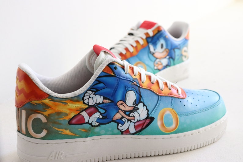 Sonic the hedgehog classic Nike Air Force 1 low sega genesis  e43f2f435