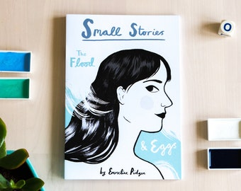 Small Stories Comic - The Flood / Eggs. Small Press Zine Comic by Emmeline Pidgen Illustration