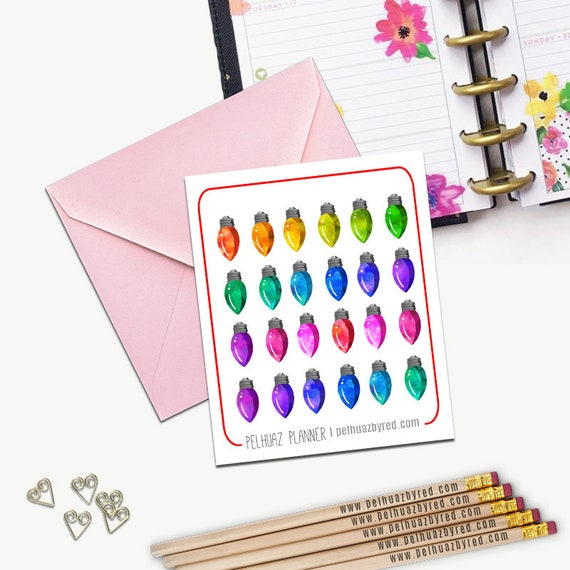 image 0 - Christmas Lights Stickers Christmas Lights Stickers Planner Etsy