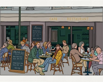 Coffee rock of Cancale - Illustration Paris - printed on fine art paper