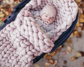 SALE. Baby Sleeping Bag. 100% Merino Wool. Handmade in NYC.