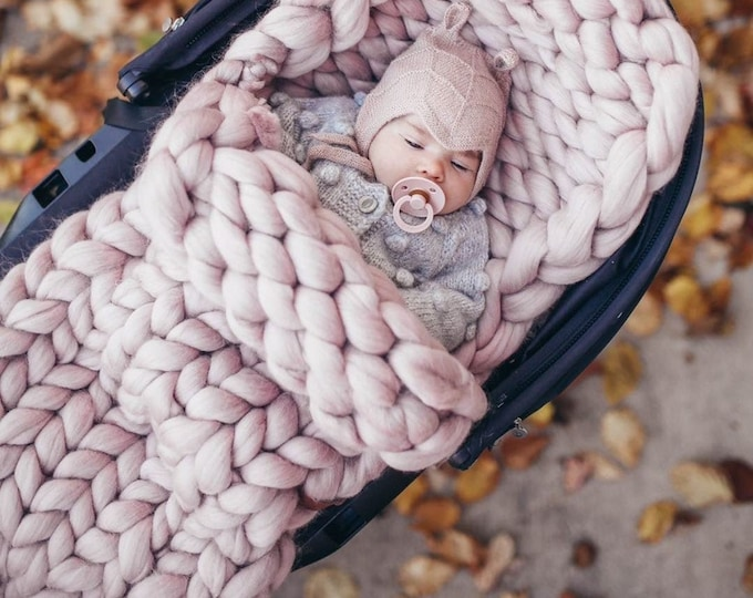 Featured listing image: Baby Sleeping Bag. 100% Merino Wool. Handmade in NYC.