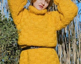 Sweater dress. 100% Merino wool. Handmade in NYC, USA.
