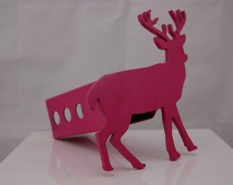 Pink Buck Deer Hitch Cover, 2""