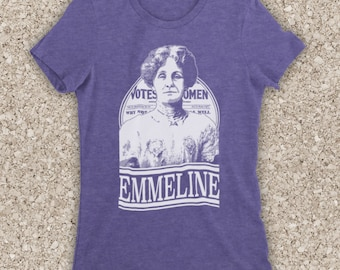 31df29663 Inspired By Emmeline Pankhurst Suffragette Activist Tribute Legendary  Women's Rights Campaigner Unofficial Womens T-Shirt
