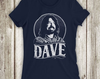 308ccd0755a Inspired By Foo Fighters Dave Grohl Tribute American Rock Band Lead Singer  Unofficial Womens T-Shirt