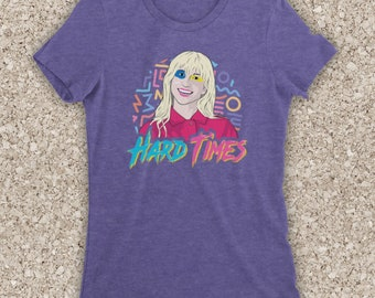 78de8b56916 Inspired By Paramore Hard Times American Alternative Pop Punk Rock Band  Hayley Unofficial Womens T-Shirt