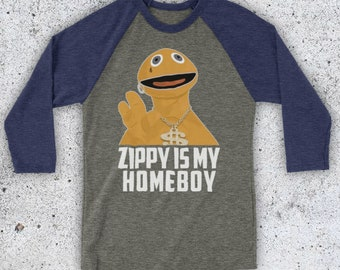 1466602ac Rainbow Zippy Is My Homeboy Iconic Children's TV Show Character Parody  Unofficial Unisex 3/4 Sleeve Baseball Tee. InspiredApparelTees 5 out of 5  stars ...