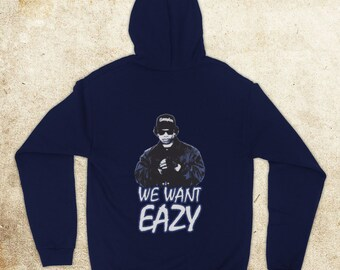 Inspired By Eazy E We Want Eazy Picture Godfather Of Gangsta Rap Unofficial  Unisex Adults Zip Hoodie cebaef6170b