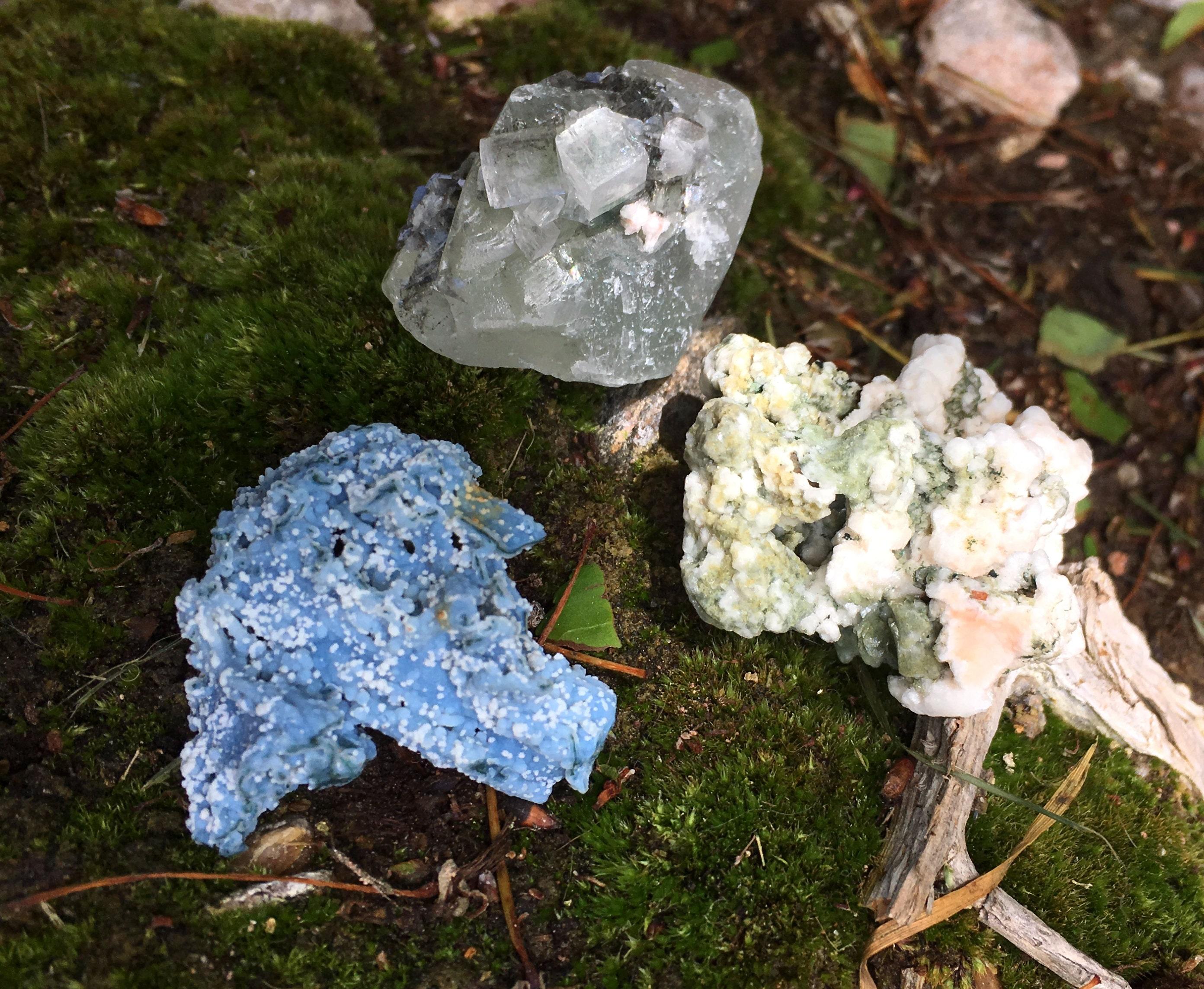 Zeolite, Apophyllite, Stilbite, Heulandite, Deccan Traps