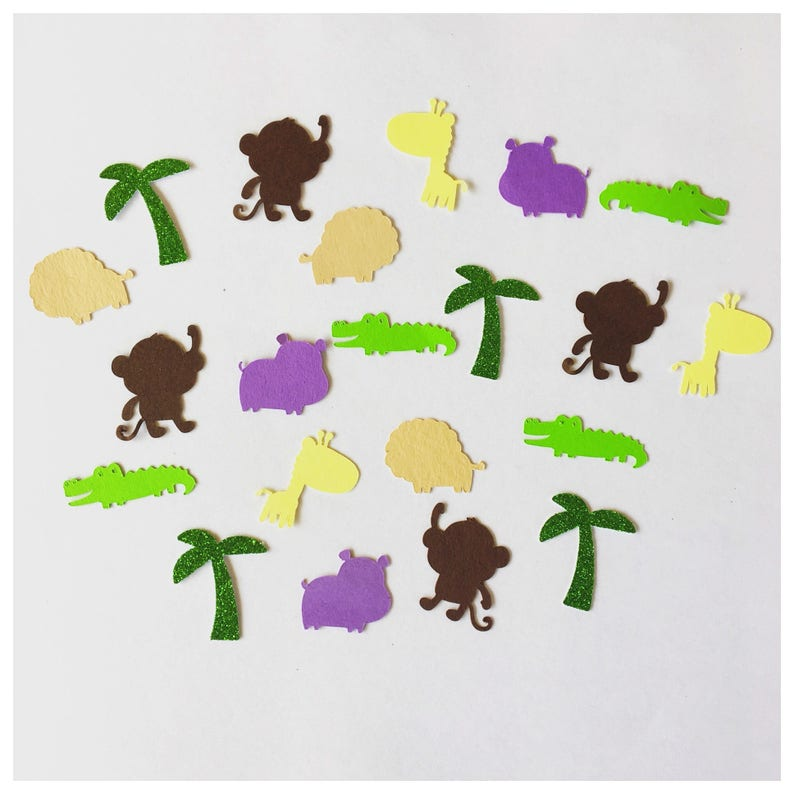 BIRTHDAY PARTY TABLE JUNGLE ANIMALS CONFETTI Various amounts available