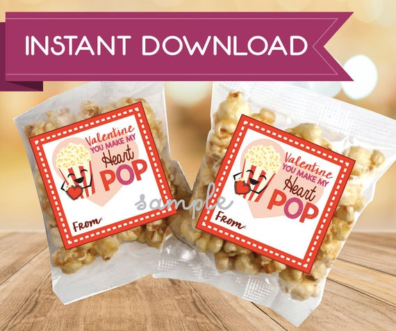 picture about You Make My Heart Pop Valentine Printable named Pop Corn Valentine Card Electronic Obtain Valentines Printable Yourself produce my centre pop Valentine Reward Tag Popcorn Giift tag