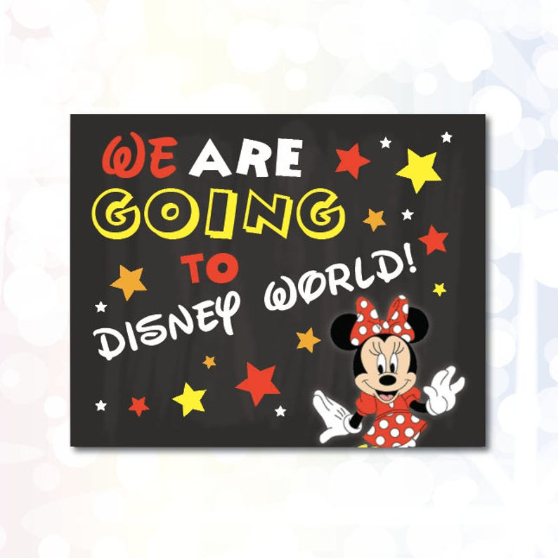 image regarding You Re Going to Disney World Printable titled We are heading in direction of Disney Planet Printable Indication Prompt Obtain