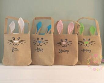Burlap Easter Bag - Personalized