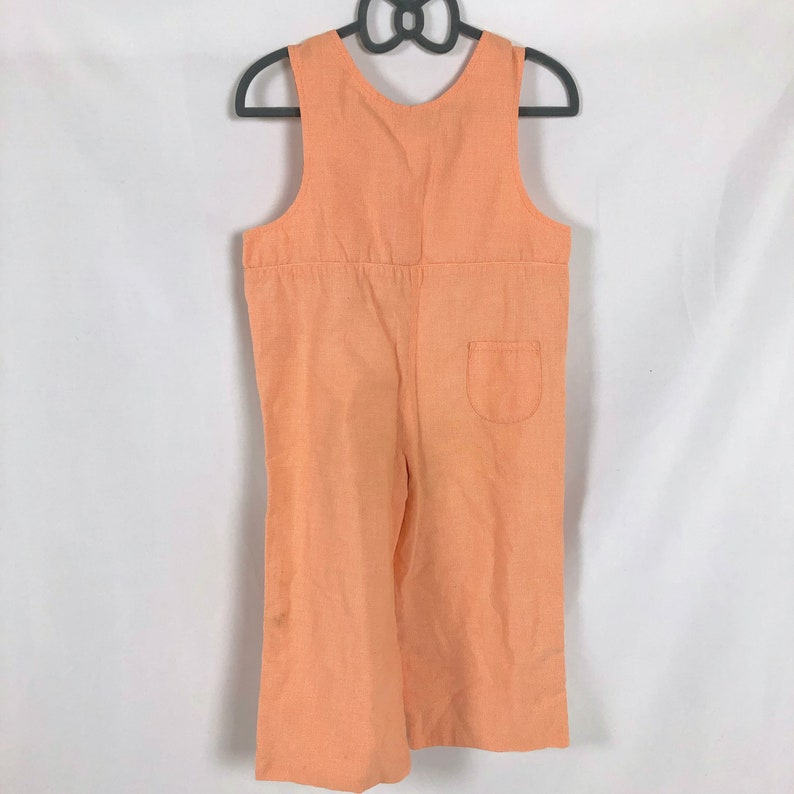 3T Orange /& White Gingham Overalls with Happy Scarecrow Appliqu\u00e9 in Blue and Red Gingham with Embroidered Pumpkins Yellow Threads as Straw