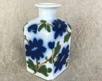 Hand-painted Blue Flower Bottle