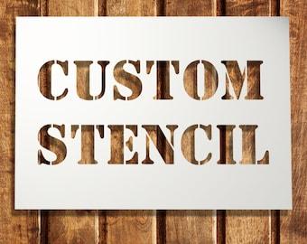 Custom stencils   Etsy