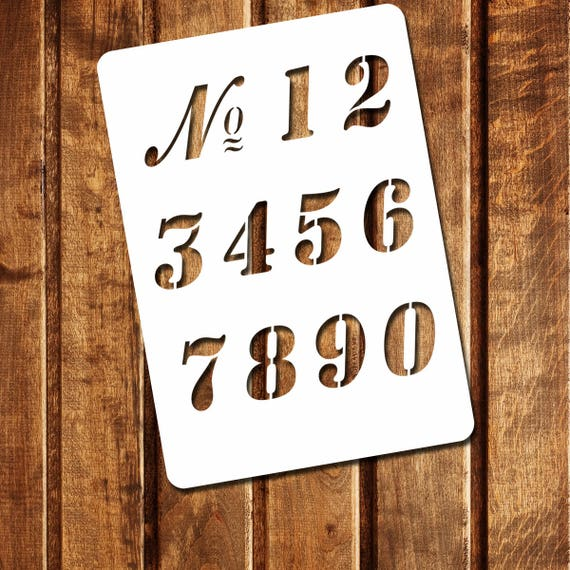 Vintage French Numbers Stencil French Numbers Stencil Old Numbers Stencil