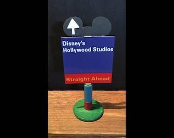 handmade Disney inspired road sign Disney's Hollywood Studios