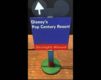 handmade Disney inspired road sign Disney's Pop Century Resort
