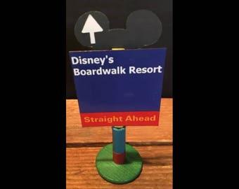 handmade Disney inspired road sign Disney's Boardwalk Resort