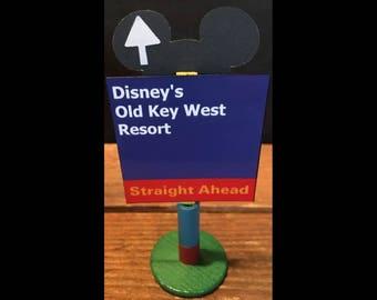 handmade Disney inspired road sign Disney's Old Key West Resort
