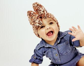 Baby Sequin Hair Bow Headband