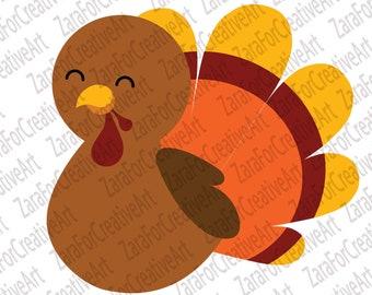 Baby Turkey Clip Art Etsy