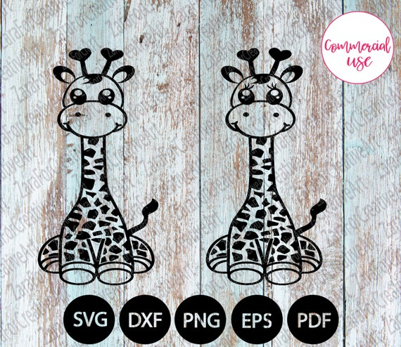 Giraffe Svg Dxf Eps Files Digital Download Giraffe Clipart Png Etsy