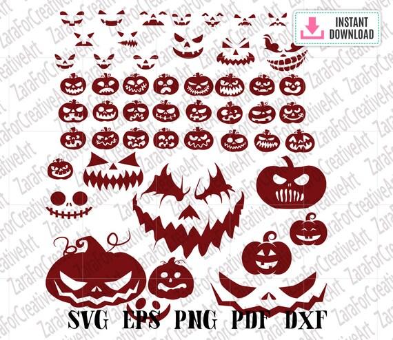 Pumpkin Faces Svg Halloween svg pumpkin Svg bundle Halloween